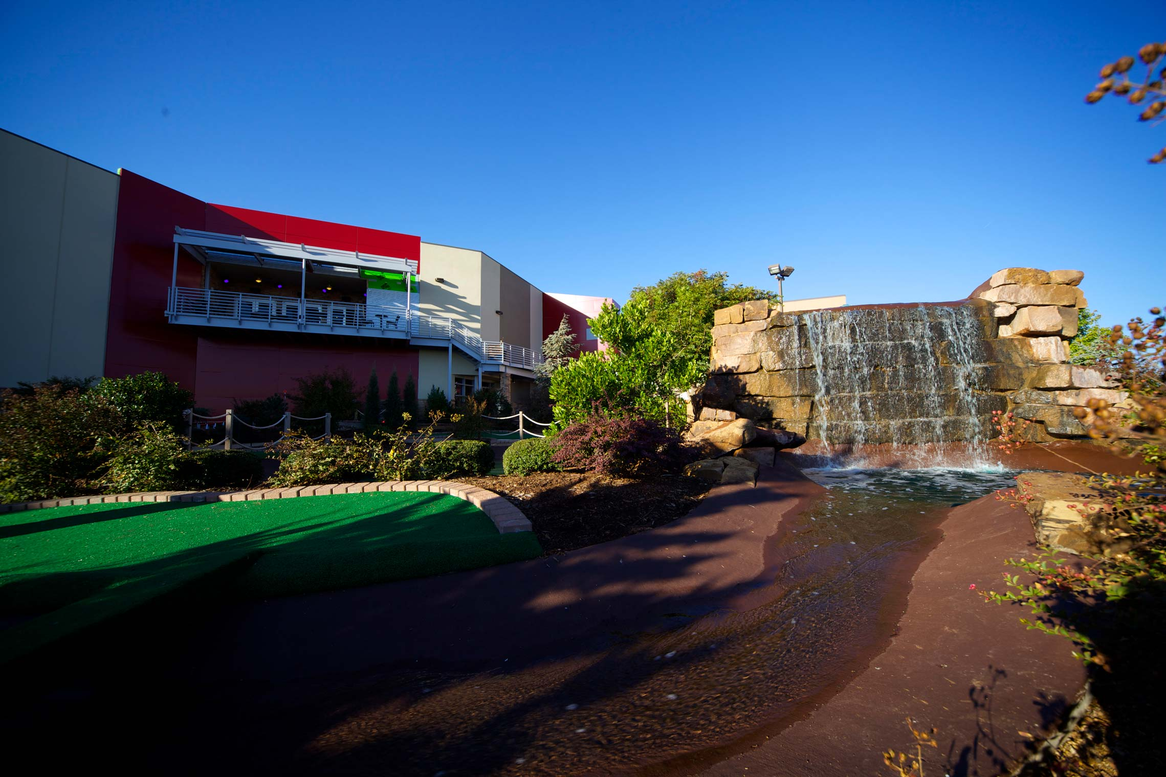 Copy of Waterfall on Mini Golf Course