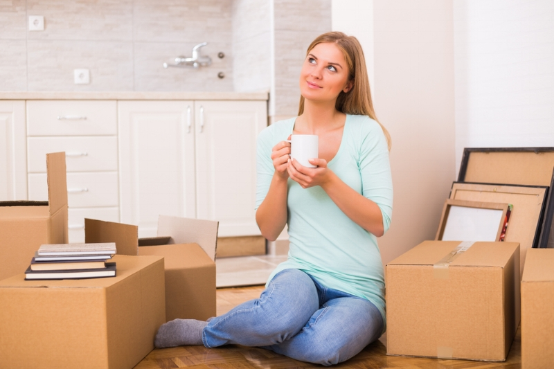 Woman planning her move