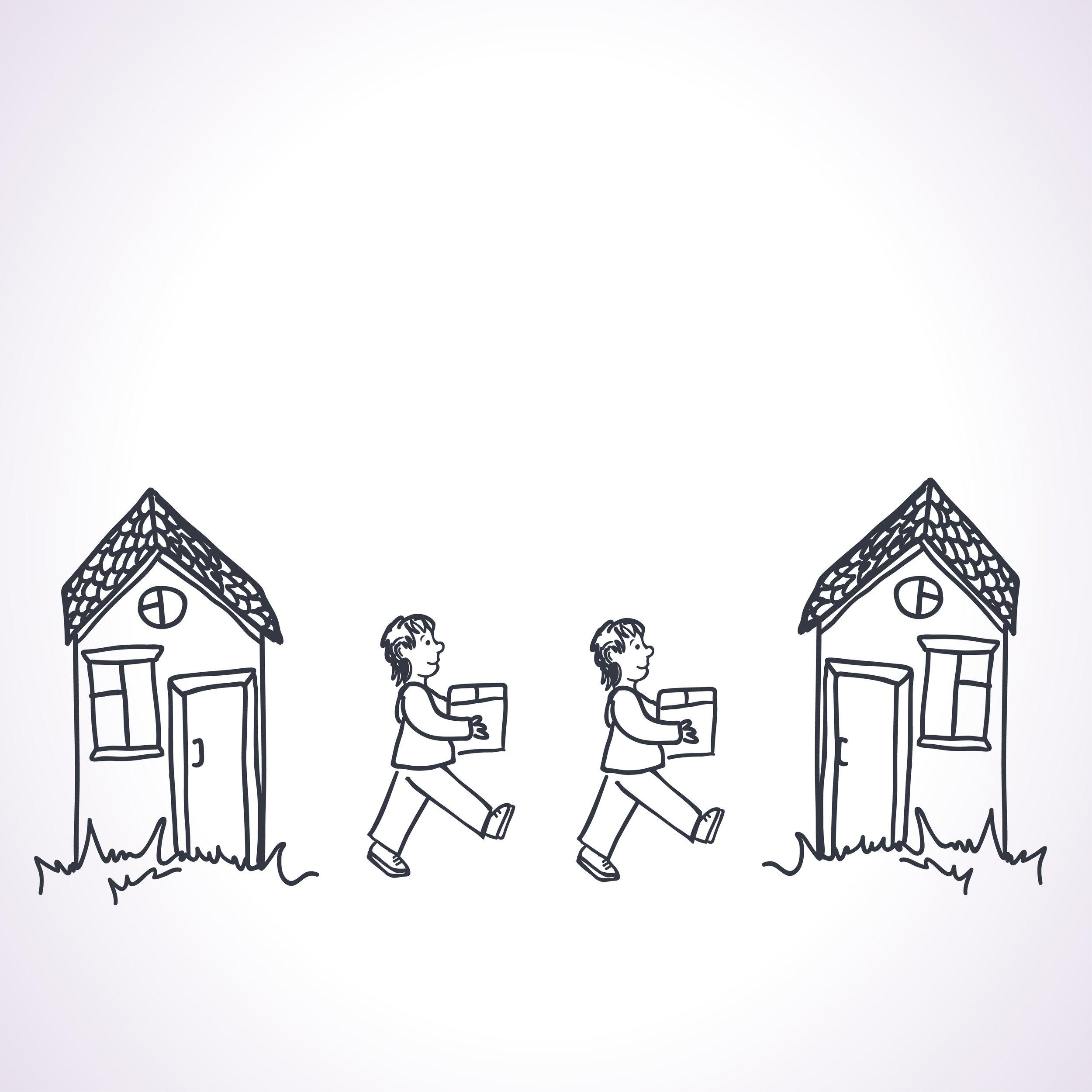 change of address - an illustration