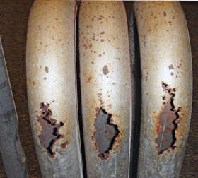 Take a look at this cracked heat exchanger! It needs to be fixed ASAP!