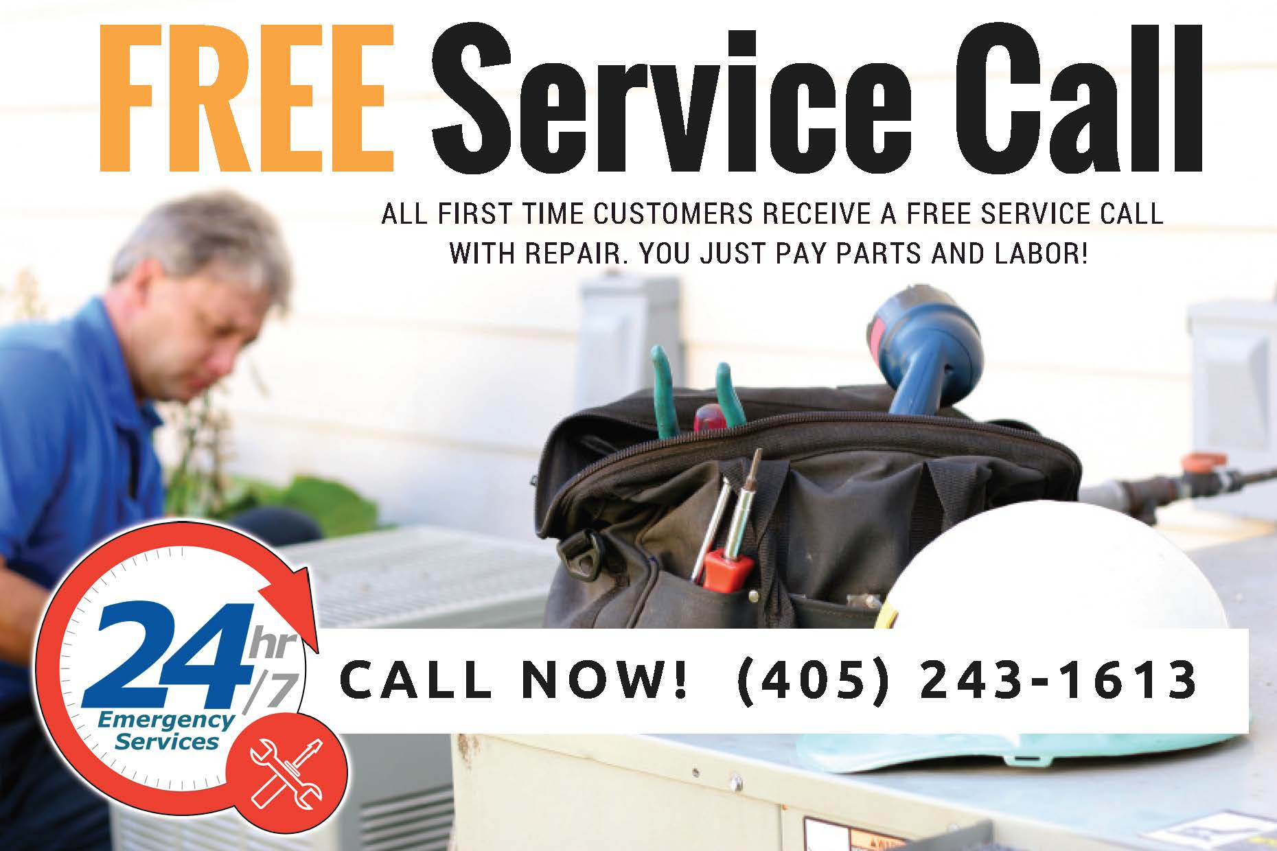 Free Heater or Furnace Service Call for Mustang Oklahoma Residents