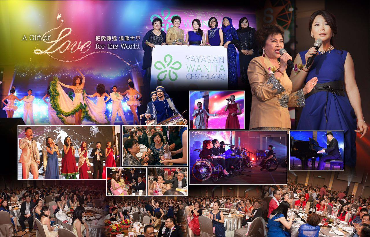A GIFT OF LOVE FOR THE WORLD |    It was a beautiful end for 6th Aug [A Gift of Love for the World] Fundraiser Charity Dinner!   Many thanks for our honorable guests for joining us together in this special night organized by Stellavingze International and Yayasan Wanita Cemerlang, Tan Sri Dato Sri Dr Ng Yen Yen, Founder and Patron of Yayasan Wanita Cemerlang , JP Datuk Dr Alan Wong ,Founder Group Chairman of Melilea International , Datuk Abu Samah , Datin Noor Faezah , Datin Rosalind – Founder and Advisor of Yaysan Wanita Cemerlang , Datuk Danny Tan.    6th Aug marks a date when Founder of Stellavingze International officially accepts the appointment as President of Yayasan Wanita Cemerlang, a date when Stellavingze International will starts to contribute in social responsibilities, and building a nation with women of excellence.    Much love received and we shall share the love to the world now.