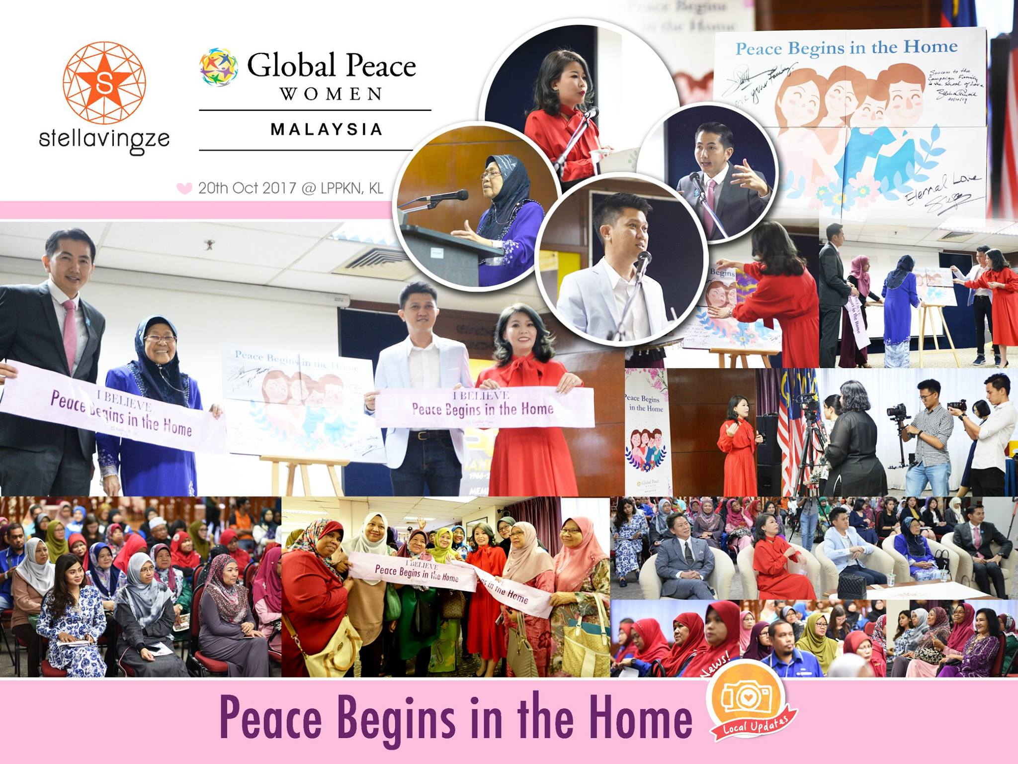 """""""What can you do to promote world peace? Go home and love your family."""" - Mother Teresa   HOME is the place where LOVE, HOPE and DREAMS begins. CHANGE Starts From Home, Peace Begins In The Home!  'Peace Begins in the Home' Campaign has been successfully officiated by the Deputy Minister of Education YB Datuk Chong Sin Woon, Chairman of Global Peace Tan Sri Zaleha Ismail, Chairwoman of Global Peace Women Malaysia, our honorable Stellavingze founder Datuk Stella, and CEO of Global Peace Foundation Malaysia, Dr Teh Su Thye on 20th October 2017.  We are truly honoured to be part of this society changing movement with Global Peace Women Malaysia, and initiate this program with Family Is The School Of Love workshop in November!  #StellavingzeInternational  #PeaceBeginsInTheHome  #GlobalPeaceWomenMalaysia  #GlobalPeaceFoundation  #FamilyIsTheSchoolOfLove"""