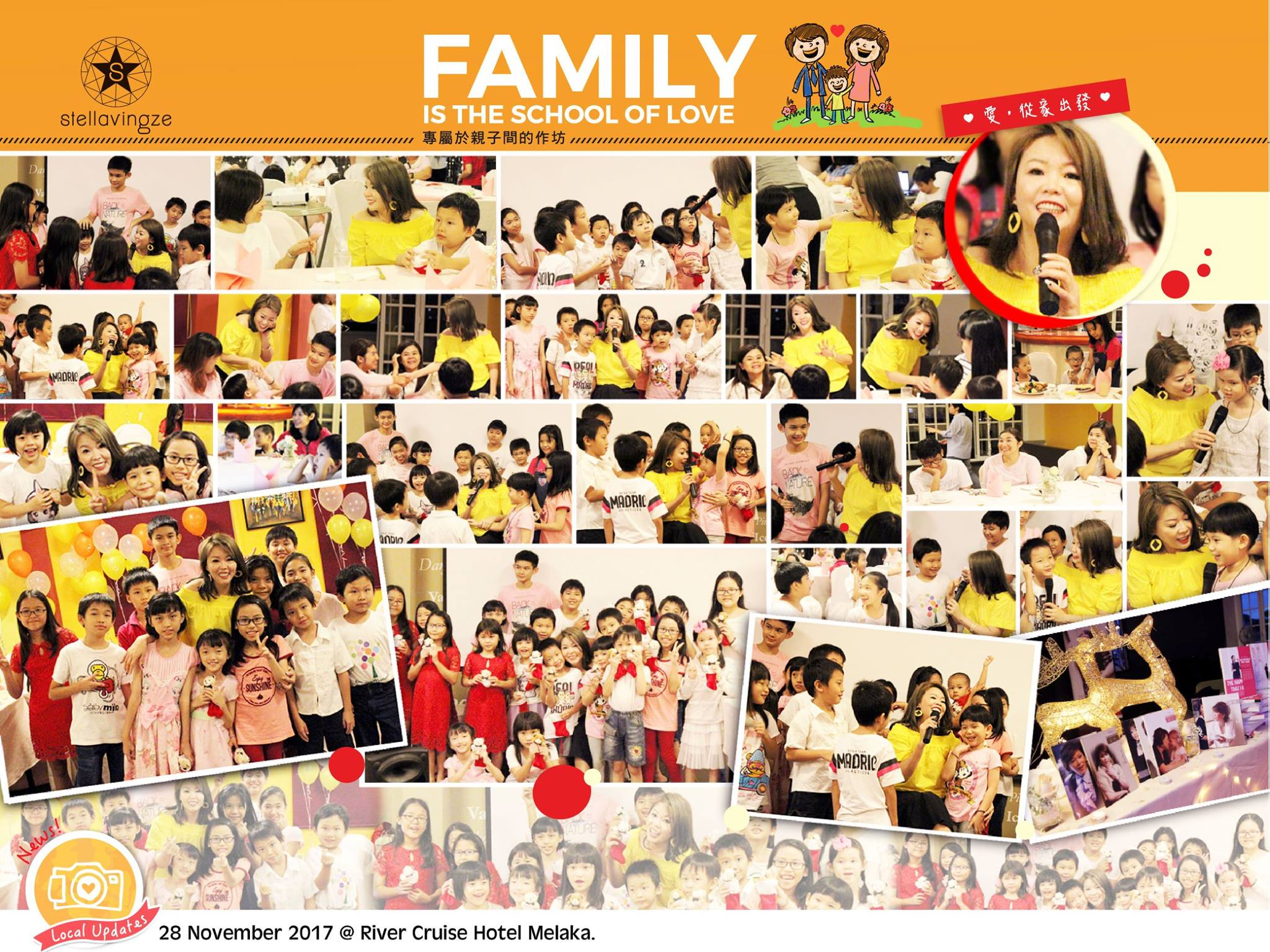 Family is the School of Love Gathering |  Children need their parents just as much as their parents need them. Datuk Stella has brought families who attended Family is the School of Love to reconnect and ignite the love back in the family. Holiday season this year would be the one to remember as we celebrate it with more love and understanding!