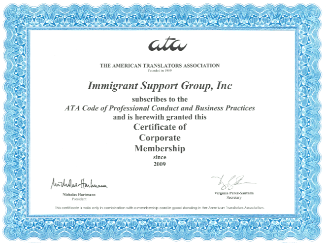 ATA Membership Immigrant Support Group
