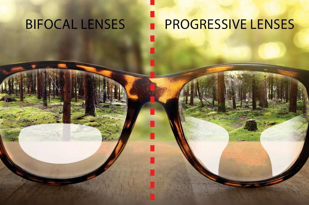 Bifocal Lense vs Progressive Lense    (Click to Enlarge)
