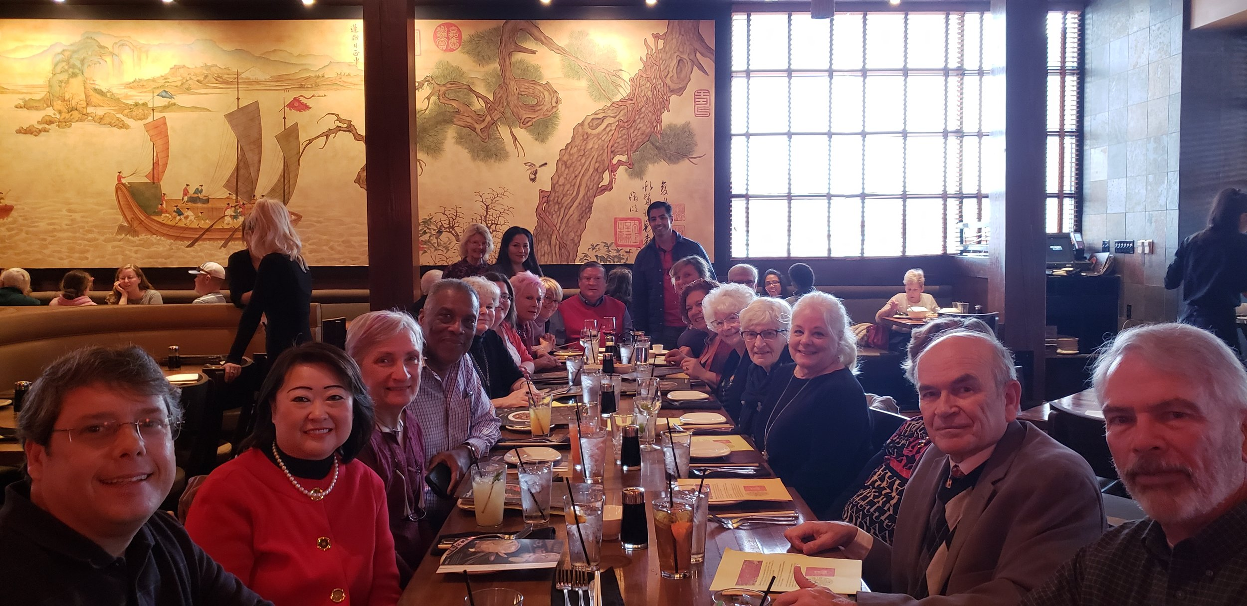 Sister Cities members at PF Chang's to celebrate the Year of the Pig!