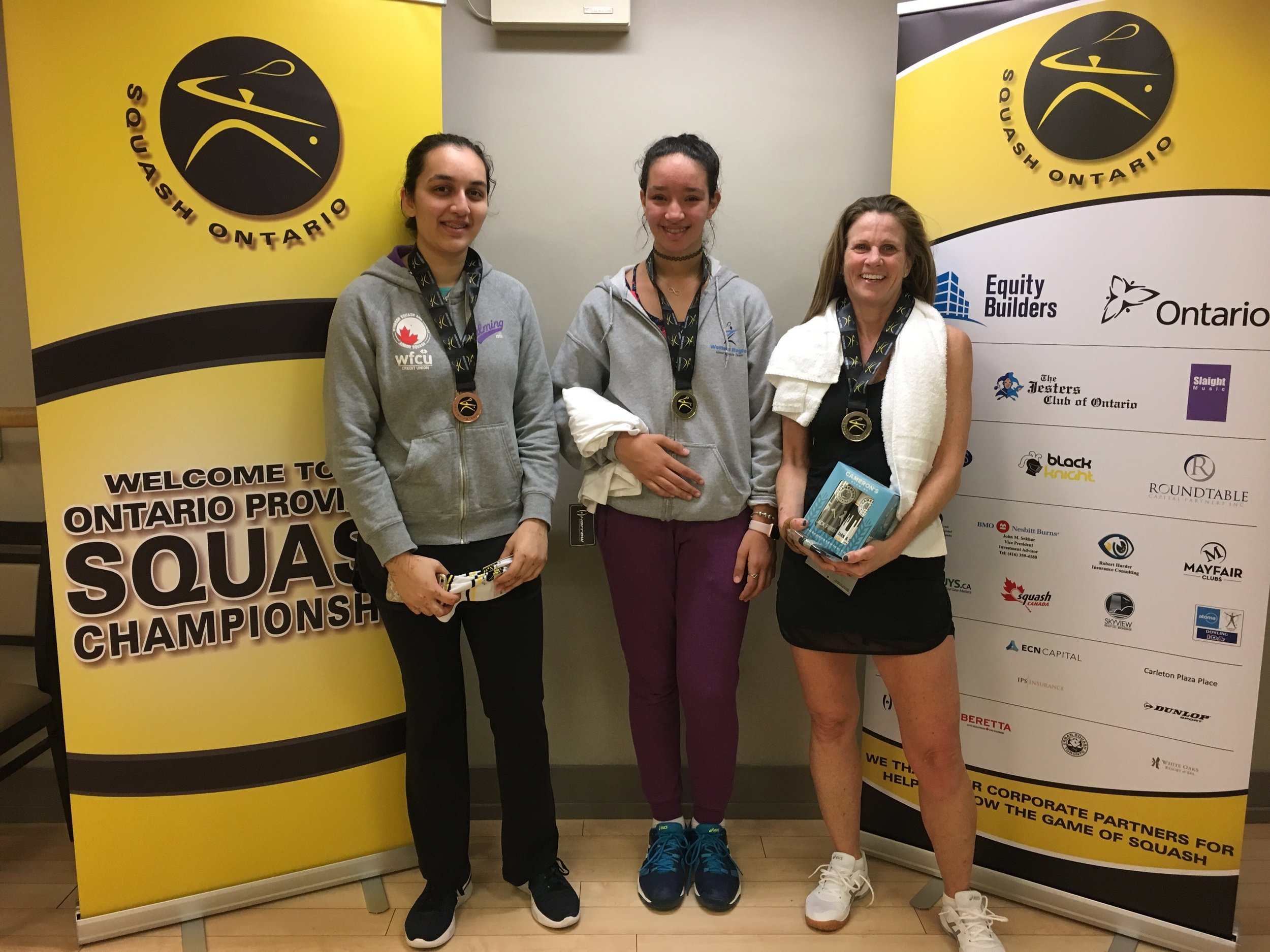 L-R: Sara Khan, Salma Mounir, Julie Hisey