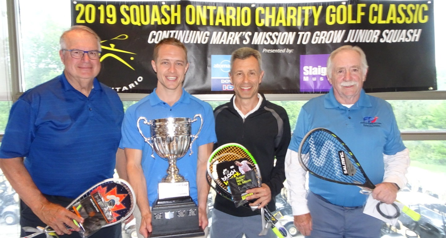 Open Division winners Les Homme, David Fishburn, Steve Flude, pictured with Mike McCue