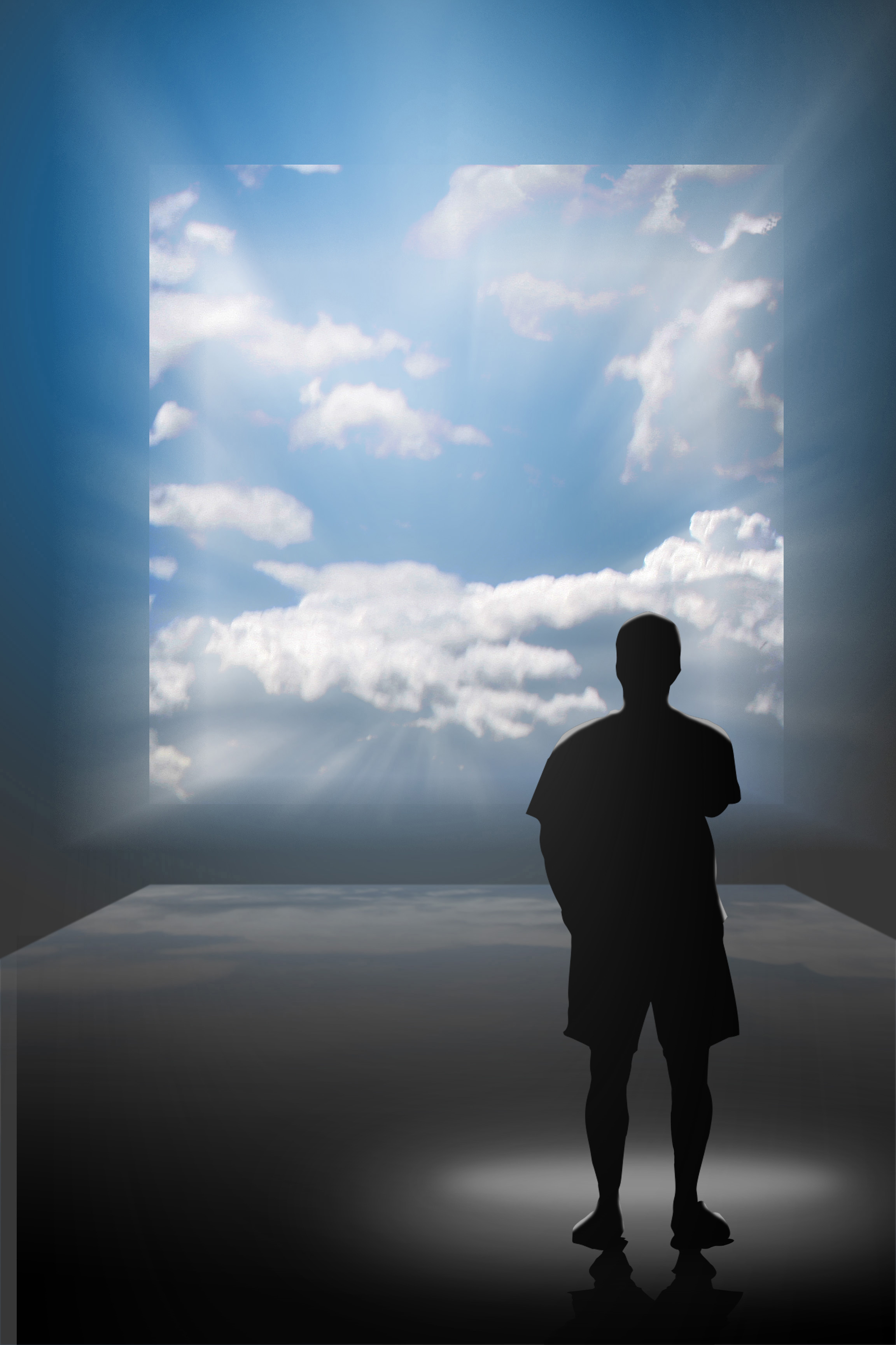 Man looking at Sky. You can have the life of your dreams. Manifest your beautiful visions.