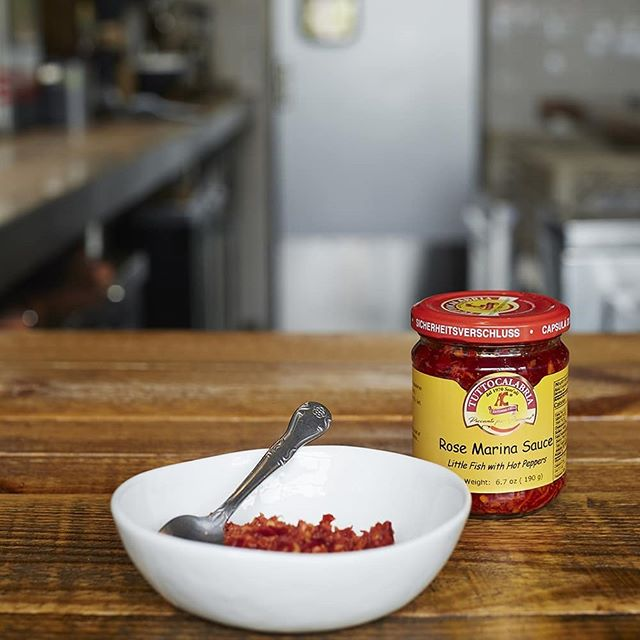 "We are obsessed with a potent condiment called Neonata. Hailing from Calabria, this little jar of culinary joy is made using ""new born"" fish (Neonata), blended with sweet and spicy peppers, then salt-cured. The resulting paste is equal parts fiery, sweet, funky, and 100% succulent. We pair it with fish, pasta, and sometimes even smear it on pizza. Come try it at Terzo on our Seared Lake Trout with Broccolini.  #terzompls #eatertwincities #yelpmsp #foodandwine #resy #mplseats #spicy #funky #bonappetit"