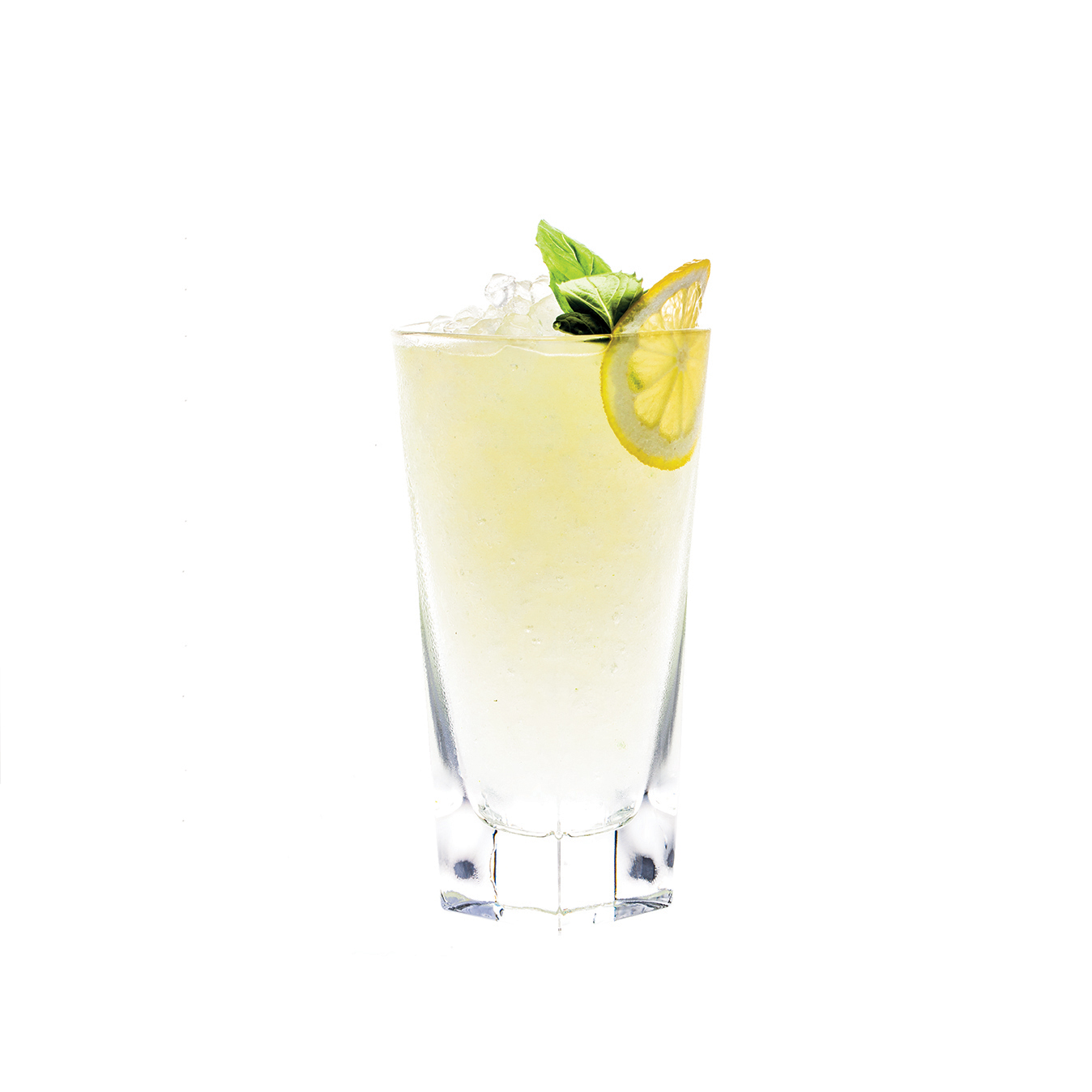 KLEO-PATRA - 2 parts KLEOS Mastiha Spirit1⁄2 part fresh lemon juice1⁄4 part simple syrup4 basil leavesShake all ingredients vigorously.Strain over fresh crushed ice in a highball.Garnish with a lemon wheel and basil leaf.                                     Adopted from the modern classic cocktail