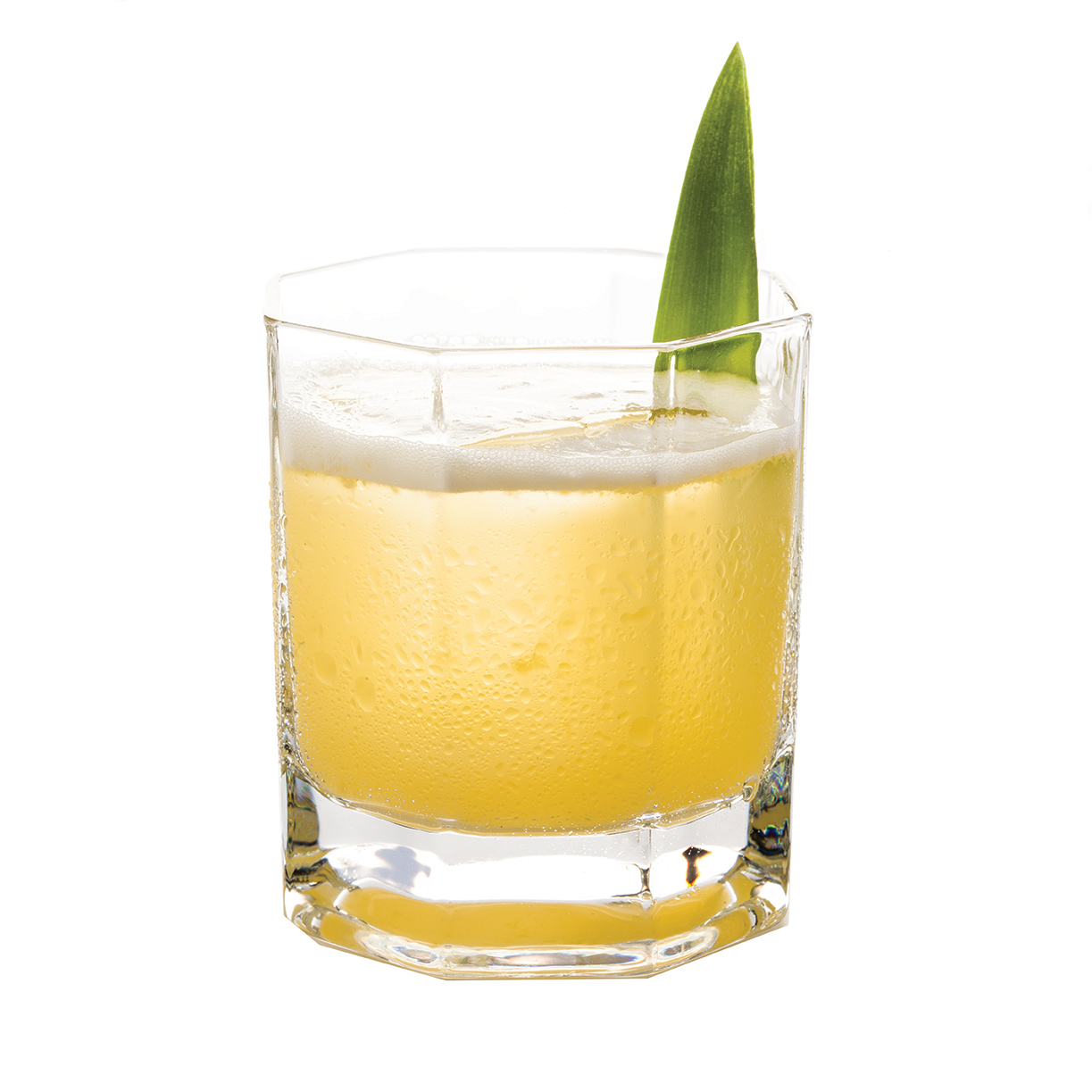 PINEAPPLE ONASSIS - 1 part KLEOS Mastiha Spirit1 part Glenlivet Founders Reserve1⁄2 part fresh lime juice1⁄4 part simple syrup4 1-inch pineapple squares1 rosemary sprigMuddle pineapple and rosemary sprig.Shake all ingredients and strain over ice in a rocks glass.Garnish with a pineapple leaf.                                                       Created by one of Miami's best palettes, Robert Ferrara; well suited for a boss like Aristotle Onassis, peacocking on his private oasis, the yacht Christina.