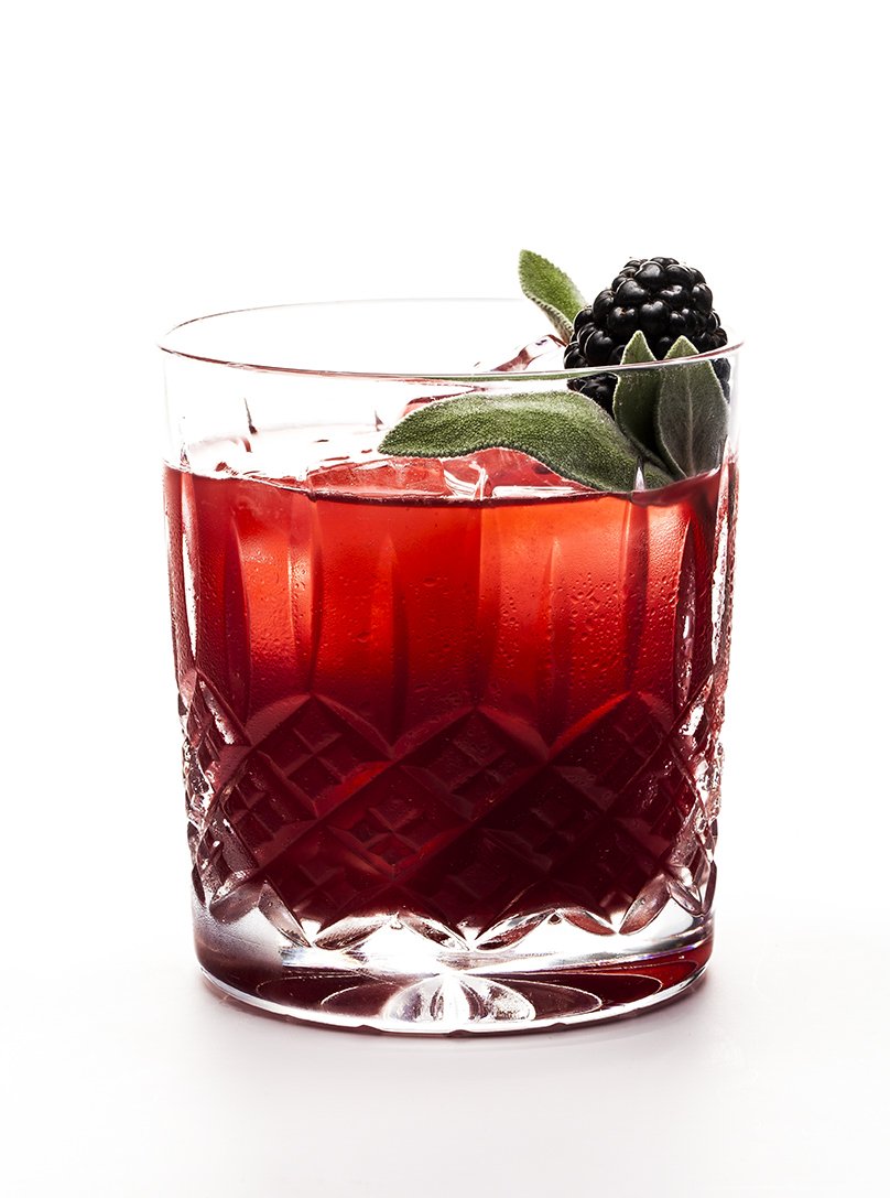 GLADIATOR FIGHT - 1 part KLEOS Mastiha Spirit1 part gin3⁄4 part fresh lime juice1⁄4 part simple syrup3 blackberries OR sub 1⁄2 part Boiron Blackberry PureéMuddle blackberries. Shake all ingredients and strain over ice into a rocks glass. Top with soda, or Fever Tree Ginger Beer for a kick. Garnish with sage leaves and a fresh blackberry.   Created by cocktail industry gladiator Ezra Pattek.