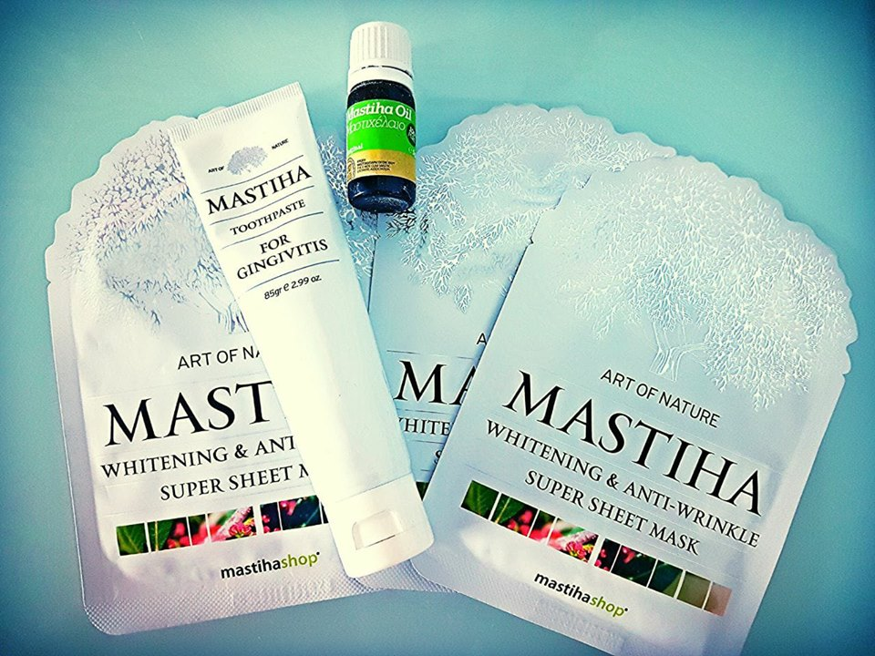 The founder of KLEOS Mastiha Spirit, is a devotee of mastiha products,  as a fan of natural products part of a healthy lifestyle.  Anecdotally, she had issues with: gums bleeding, healed after a month of using Mastiha toothpaste, a tooth extracted that caused a 2 -week infection healed in 2 days by applying mastiha oil, and has had fine lines diminish using the latest Mastiha anti-wrinkle mask.  Mastiha is a PANACEA (google it, Greek word;) -
