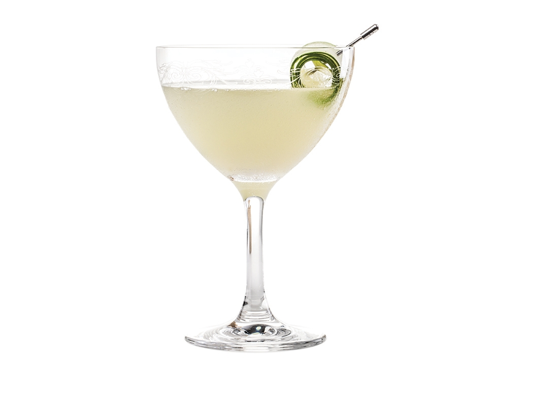 THE LORD BYRON - 1 part KLEOS Mastiha Spirit1 part gin (we like Ford's London Dry3⁄4 parts fresh lemon juice1⁄4 part simple syrup 6 cucumber slicesShake all ingredients vigorously.Strain and serve up in a chilled coupette.Garnish with a cucumber peel.Lord Byron was an English poet,and