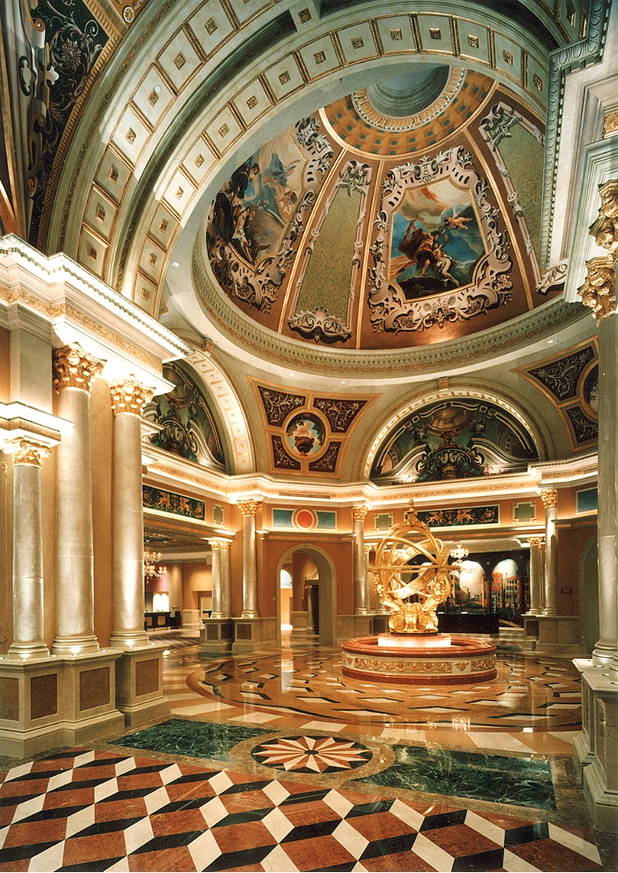 EverGreene Architectural Arts, Armillary Sphere, installed,Las Vegas, Nevada