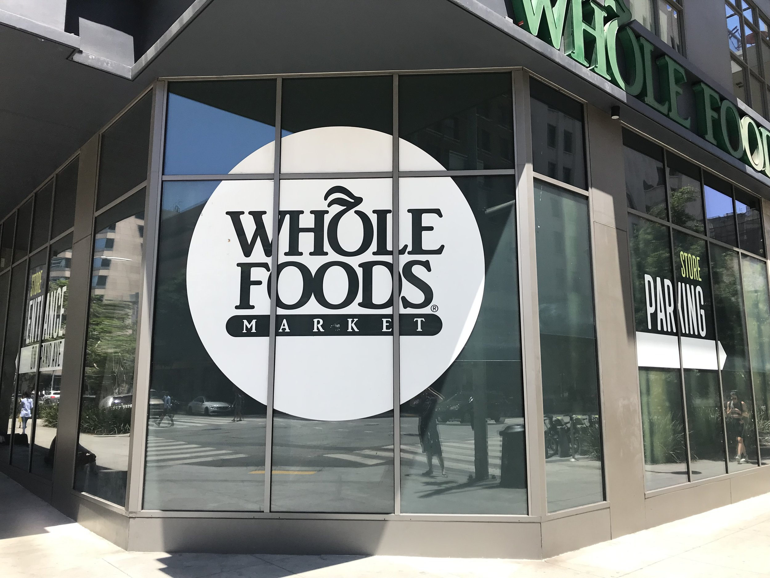 Whole Foods Market on Olive Street, between 7th and 8th Streets — location of one of the first film studios in Los Angeles.