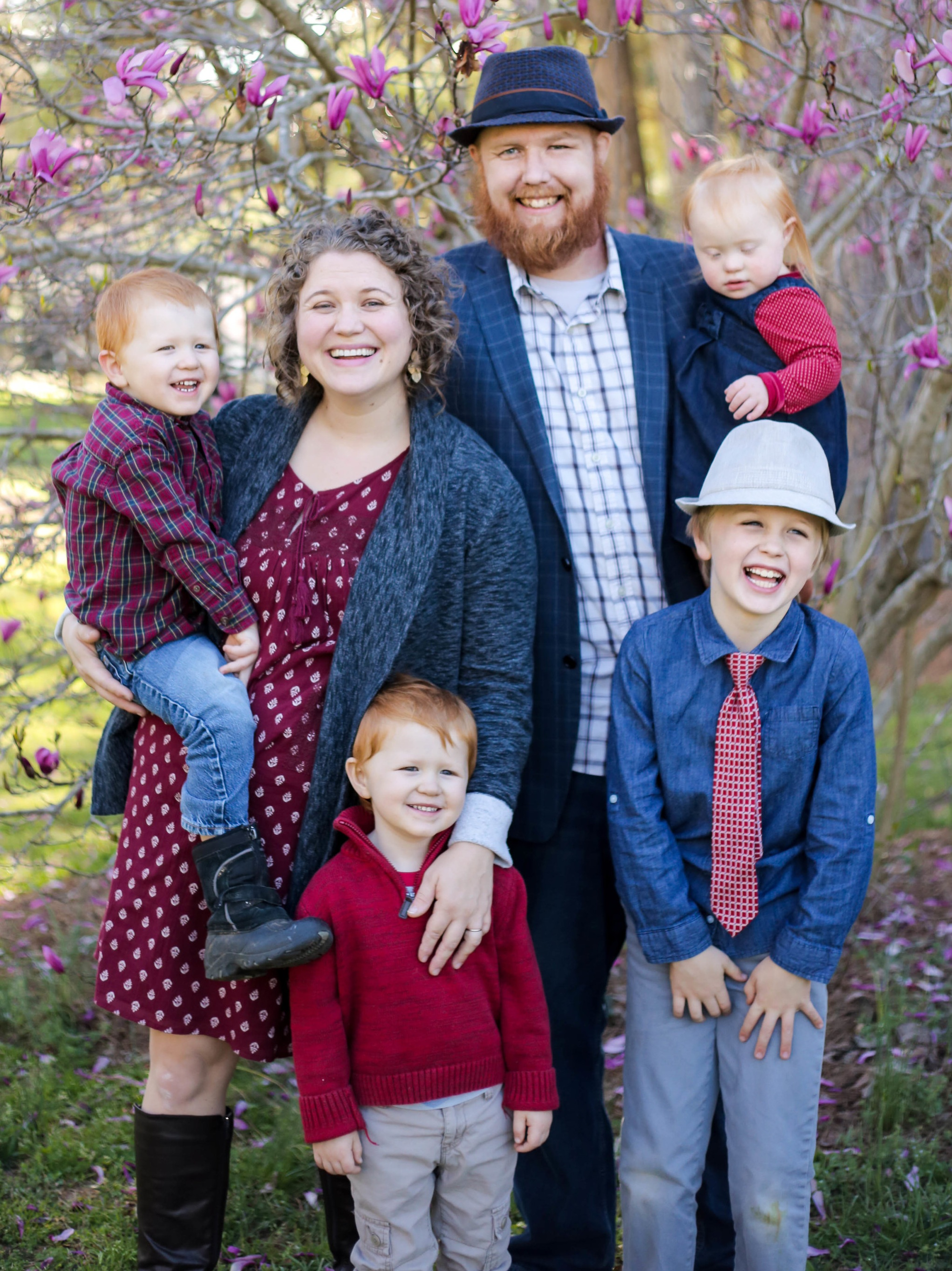 Tim and his wife, Rachel, and kiddos! Titus, Noah, Charity, and Judah