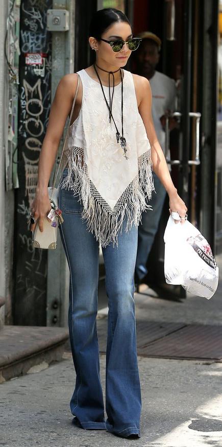 celeb-blue-med-flare-jeans-white-top-sun-necklace-white-bag-bun-wear-fashion-style-spring-summer-freepeople-vanessahudgens-fringe-brun-lunch.jpeg
