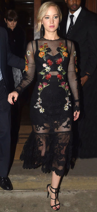 black-dress-bodycon-sheer-floral-black-shoe-sandalh-earrings-jenniferlawrence-style-spring-summer-blonde-dinner.jpg