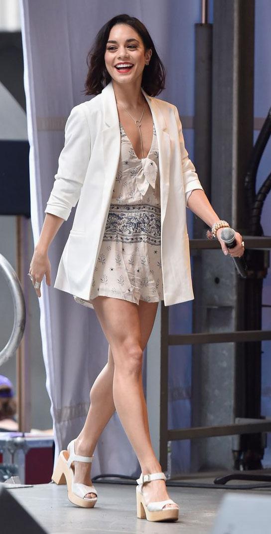 white-jumper-romper-print-white-jacket-blazer-oversized-necklace-white-shoe-sandalw-vanessahudgens-spring-summer-brun-lunch.jpg