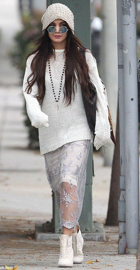 white-dress-tank-sheer-lace-white-sweater-slouchy-layer-necklace-beanie-sun-white-shoe-booties-mono-vanessahudgens-fall-winter-brun-lunch.jpg