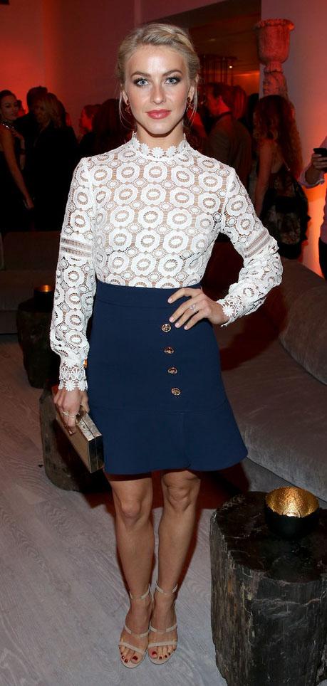 blue-navy-mini-skirt-white-top-blouse-longsleeve-tan-shoe-sandalh-juliannehough-blonde-spring-summer-dinner.jpg