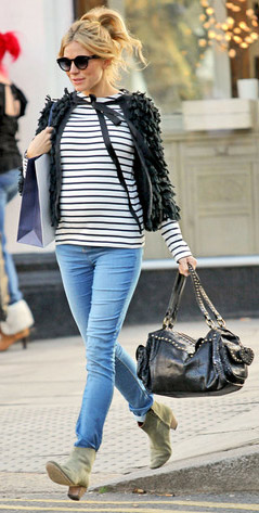 blue-light-skinny-jeans-black-tee-stripe-black-cardigan-tan-shoe-booties-black-bag-pony-sun-siennamiller-fall-winter-blonde-weekend.jpg