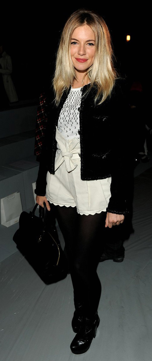 white-shorts-white-top-black-jacket-lady-black-tights-black-shoe-booties-black-bag-siennamiller-england-howtowear-fashion-style-outfit-fall-winter-blonde-dinner.jpg