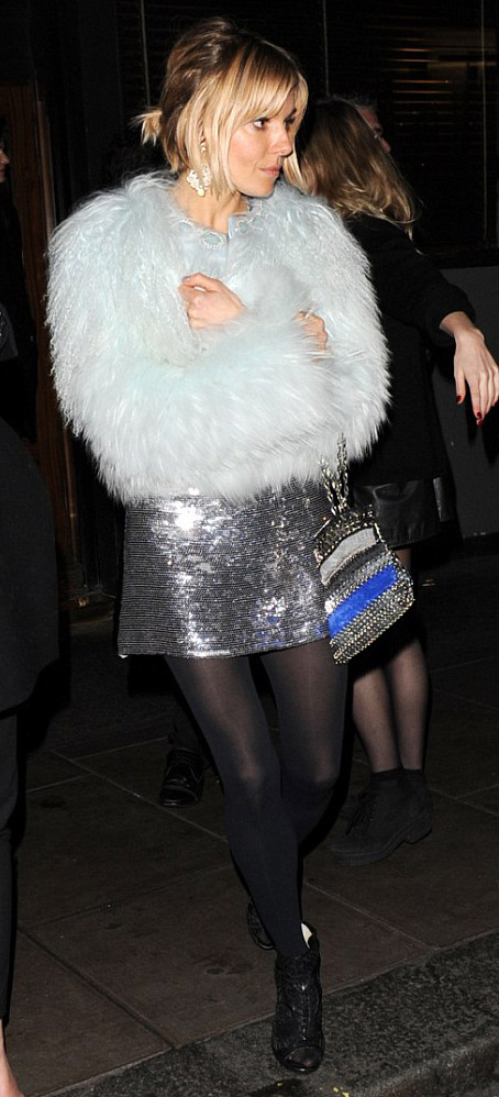 grayl-dress-mini-black-tights-black-shoe-booties-blue-light-jacket-coat-fur-fuzz-siennamiller-fall-winter-blonde-dinner.jpg