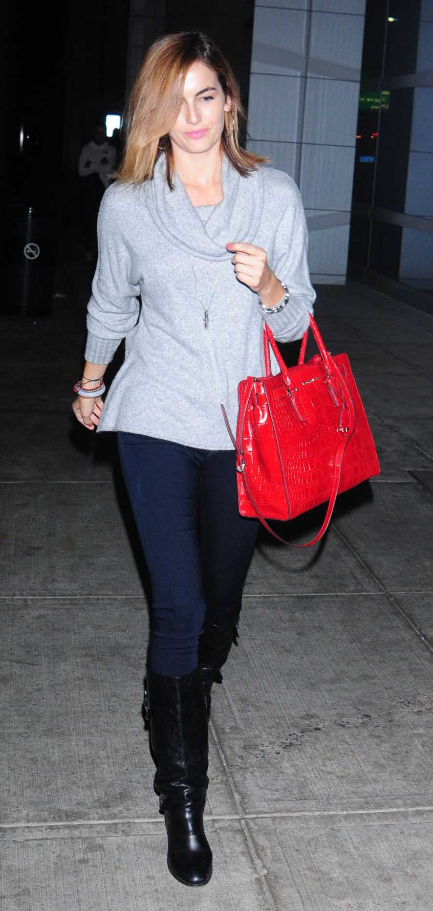 blue-navy-skinny-jeans-grayl-sweater-cowlneck-red-bag-hoops-black-shoe-boots-camillabelle-hairr-fall-winter-weekend.jpg