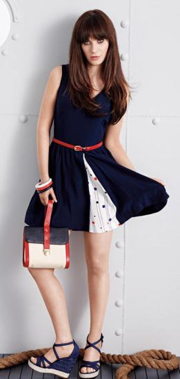 blue-navy-dress-belt-blue-shoe-sandalw-zooeydeschanel-brun-spring-summer-lunch.jpg
