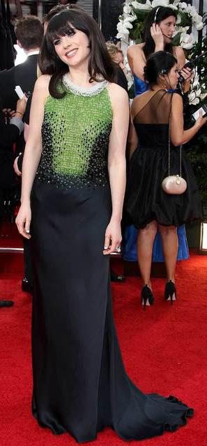 black-dress-gown-green-zooeydeschanel-brun-fall-winter-elegant.jpg