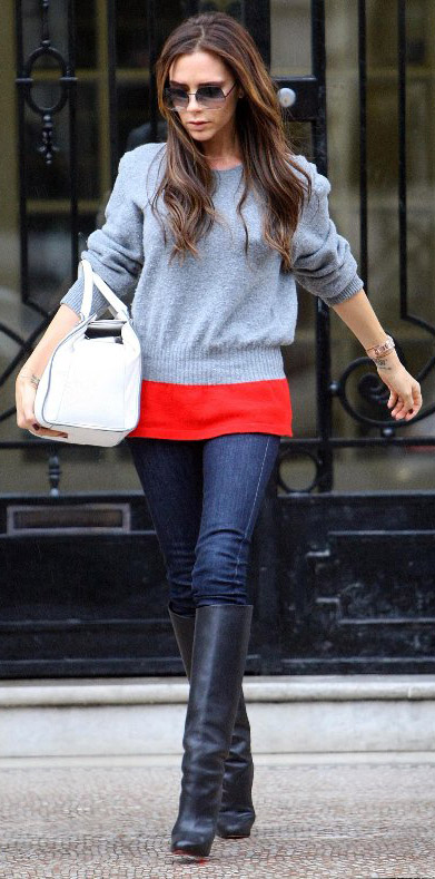 blue-navy-skinny-jeans-grayl-sweater-colorblock-white-bag-black-shoe-boots-sun-victoriabeckham-brun-fall-winter-weekend.jpg
