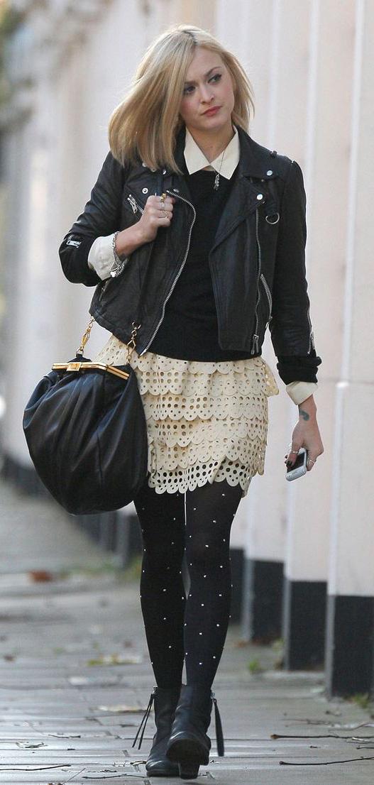 white-mini-skirt-black-sweater-wear-style-fashion-fall-winter-black-bag-black-shoe-booties-lace-fearnecotton-black-jacket-moto-black-tights-blonde-lunch.jpg