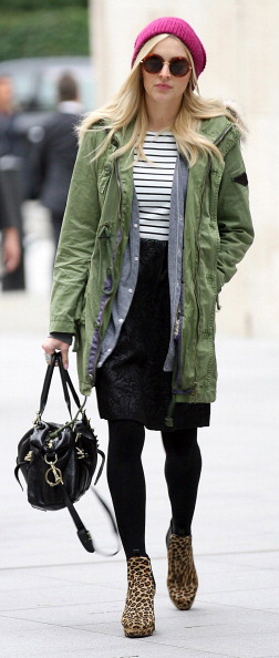 black-pencil-skirt-black-tee-stripe-leopard-fall-winter-black-bag-black-tights-beanie-sun-green-olive-jacket-coat-parka-tan-shoe-booties-fearnecotton-england-blonde-work.jpg