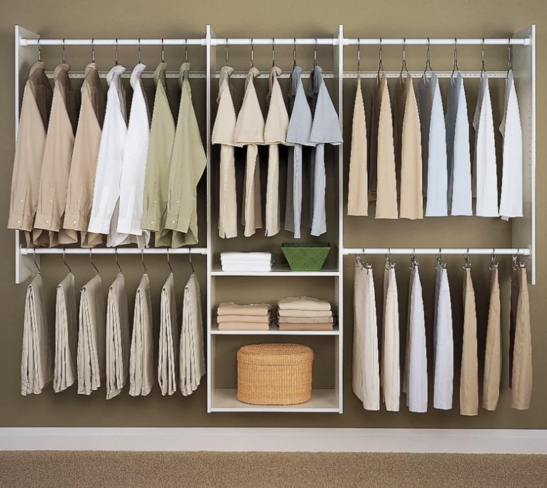 Deluxe Closet System, $130 at Wayfair - A low cost but effective system.