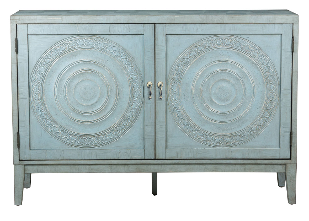 Juniper Buffet, Antique Blue, $519 at Houzz - Use this antique blue buffet as shoe storage - it would be so nice as an accent piece in a bedroom or large closet.