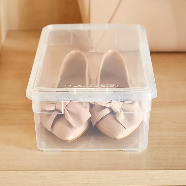 Our Shoe Box, $2 at The Container Store - The Container Store has a great variety of sizes to store any type of shoe!