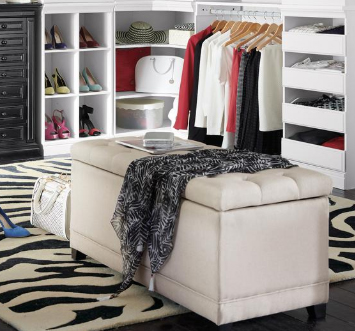 Chambers 42 in. Solid Rectangular Storage Shoe Bench, $309 at Home Depot - An ottoman like this one from Home Depot doubles as shoe storage and comfy seating!
