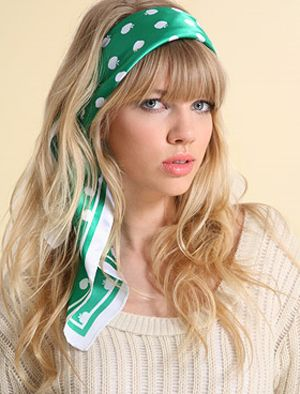 how-to-style-hair-accessories-scarf-scarves-bandana-silk-tied-headband-green-blonde-polkadots.jpg