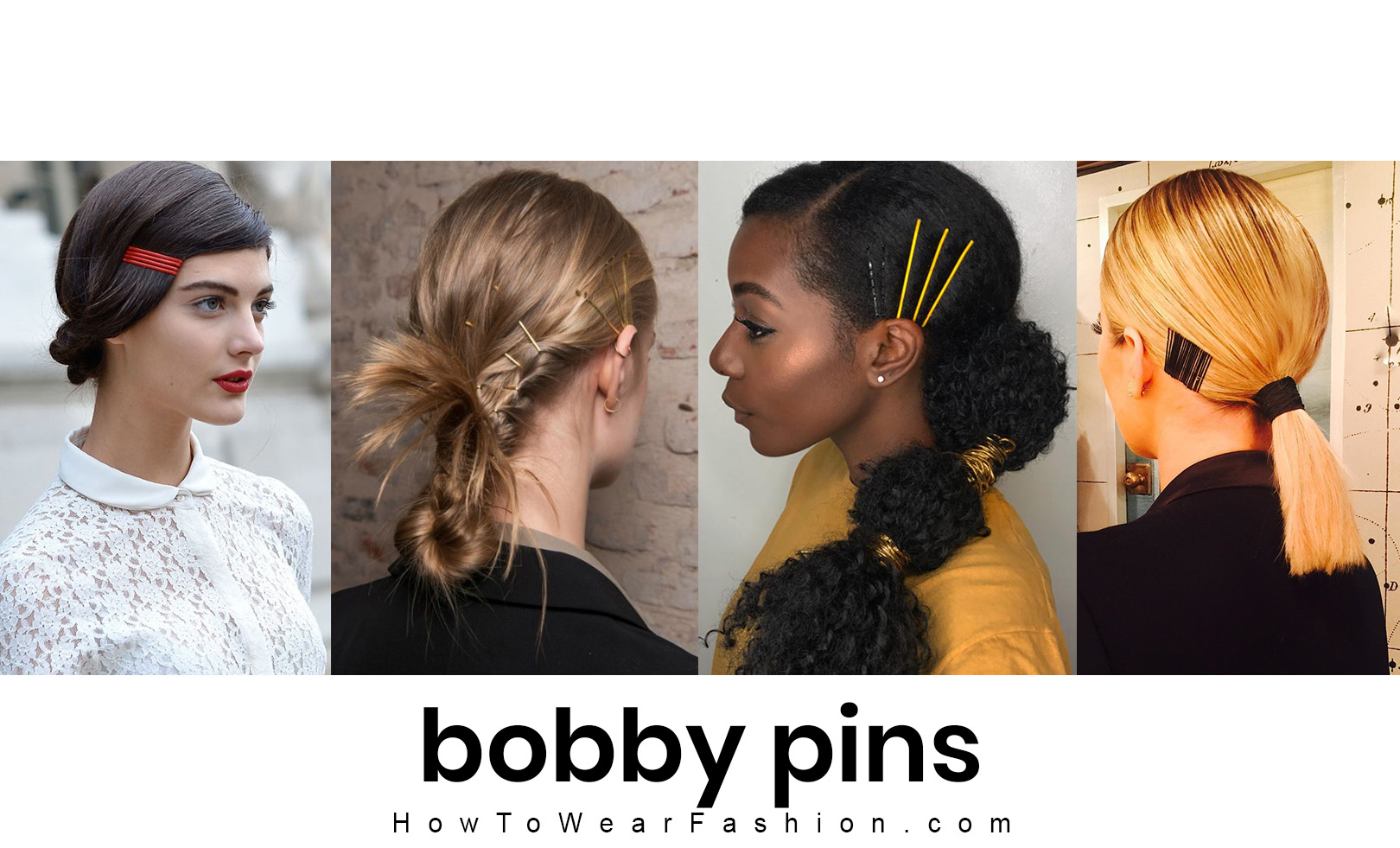 Bobby pin hairstyle ideas