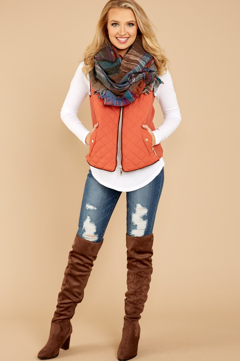 blue-med-skinny-jeans-white-tee-orange-vest-puffer-blue-med-scarf-plaid-blonde-brown-shoe-boots-otk-fall-winter-thanksgiving-outfits-holidays-weekend.jpg