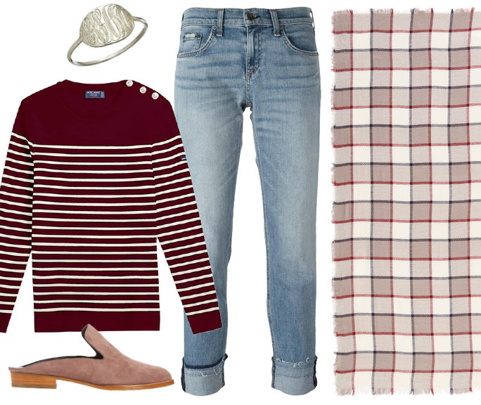 blue-light-skinny-jeans-burgundy-sweater-stripe-white-scarf-plaid-tan-shoe-flats-fall-winter-thanksgiving-outfits-weekend.jpg