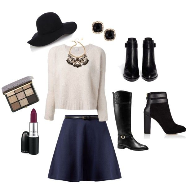 blue-navy-mini-skirt-white-sweater-bib-necklace-hat-studs-black-shoe-booties-fall-winter-thanksgiving-outfits-holidays-lunch.jpg