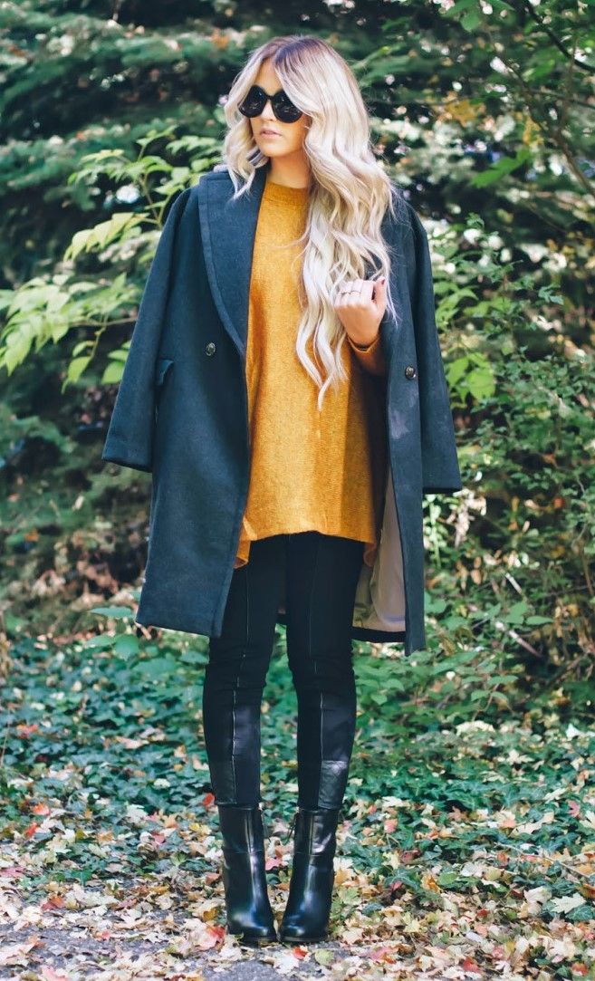 black-leggings-yellow-sweater-blonde-sun-black-shoe-booties-grayd-jacket-coat-fall-winter-thanksgiving-outfits-holidays-lunch.jpg