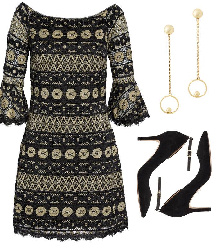 black-dress-mini-crochet-bell-sleeves-black-shoe-pumps-gold-earrings-fall-winter-thanksgiving-outfits-dinner.jpg