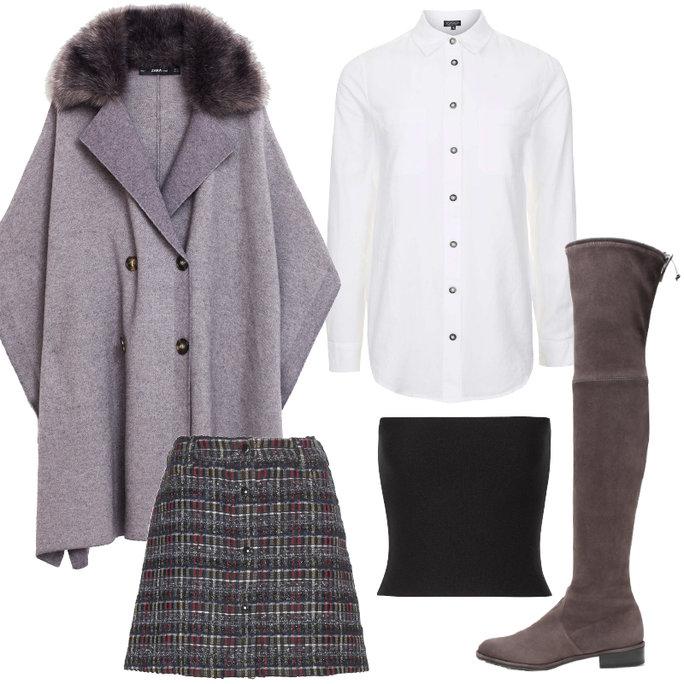 grayd-mini-skirt-plaid-white-collared-shirt-black-top-crop-gray-shoe-boots-otk-grayl-jacket-coat-cape-fall-winter-thanksgiving-outfits-wearcroptopovershirt-dinner.jpg