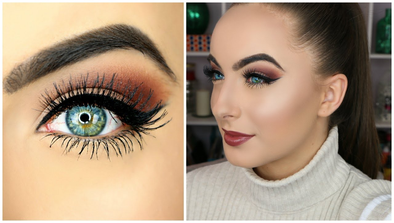 makeup-for-thanksgiving-fall-autumn-warm-colors-brown-eyeshadow-winged-eyeliner-blue-eyes.jpg